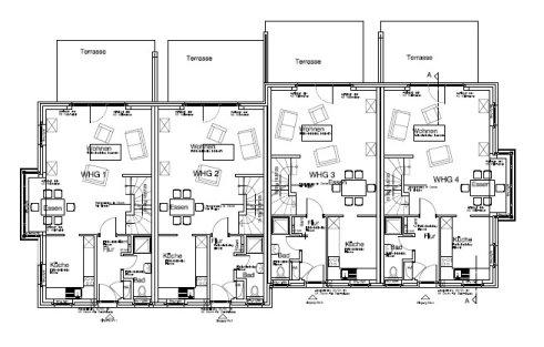 grundrisse der reihenh user. Black Bedroom Furniture Sets. Home Design Ideas
